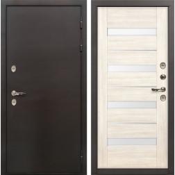 Дверь с терморазрывом Лекс Термо Сибирь 3К Сицилио Беленый дуб (панель №46)