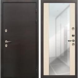 Дверь с терморазрывом Лекс Термо Сибирь 3К Стиль Зеркало Беленый дуб (панель №45)