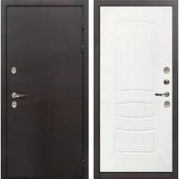 Входная дверь с терморазрывом Лекс Термо Сибирь 3К Белая шагрень (панель №68)
