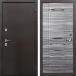 Входная дверь с терморазрывом Лекс Термо Сибирь 3К Сандал серый (панель №69)