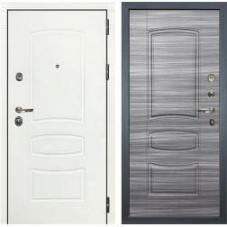 Входная дверь Лекс Сенатор 3К Шагрень белая (№69 Сандал серый)