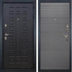 Входная металлическая дверь Лекс Гладиатор 3К Графит софт (панель №70)