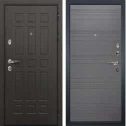 Входная металлическая дверь Лекс 8 Сенатор Графит софт (панель №70)