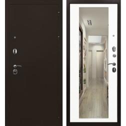 Входная металлическая дверь Ратибор Троя 3К с Зеркалом (Белый матовый)