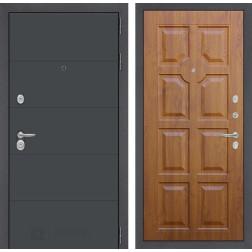 Входная металлическая дверь Лабиринт Арт 17 (Графит софт / Золотой дуб)