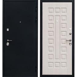 Входная металлическая дверь Ратибор Рим 3К (Черный шелк / Дуб беленый)