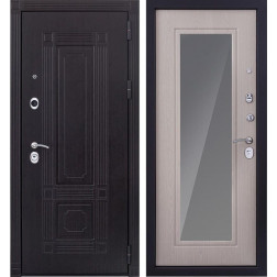 Входная металлическая дверь Италия 3К с Зеркалом (Дуб беленый)