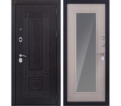 Входная металлическая дверь Италия 3К с Зеркалом (Венге / Дуб беленый)