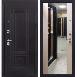 Входная дверь Италия 3К Стиль с Зеркалом (Венге / Дуб беленый)