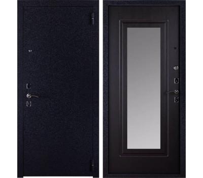 Входная стальная дверь Триумф с Зеркалом (Чёрный крокодил / Венге)