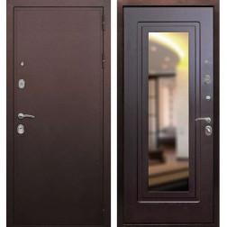 Входная дверь Армада 5А с зеркалом (Медный антик / Венге)