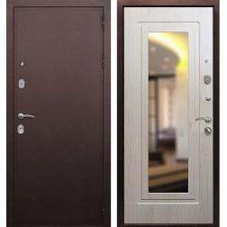 Входная дверь Армада 5А с зеркалом (Медный антик / Беленый дуб)