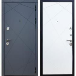 Входная металлическая дверь Армада 13 (Графит софт / Белый софт)