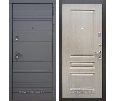 Входная металлическая дверь Армада 14 ФЛ-243 (Графит софт / Беленый дуб)