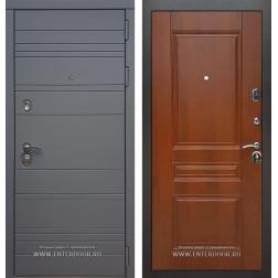Входная металлическая дверь Армада 14 ФЛ-243 (Графит софт / Орех)