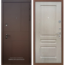 Входная дверь Армада Урбан ФЛ-243 (Ясень шоколадный / Беленый дуб)