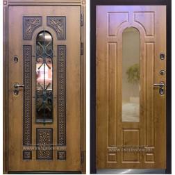 Уличная дверь с терморазрывом Термо Лацио (Орех золотой)