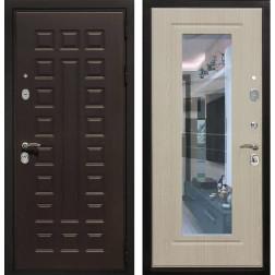 Входная дверь Армада Триумф 3К с Зеркалом (Венге / Дуб беленый)