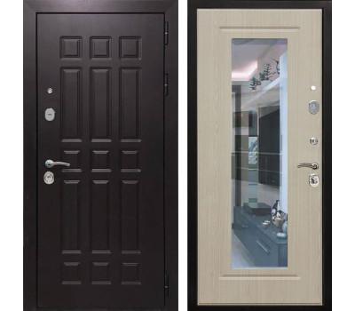 Входная металлическая дверь Армада Сенатор 8 с Зеркалом (Венге / Белёный дуб или Венге)