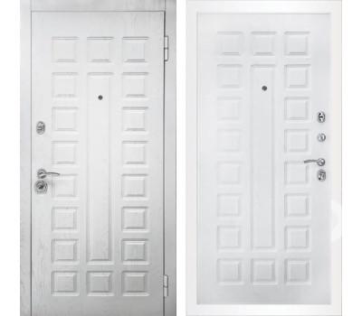 Входная металлическая дверь Снедо Сенатор 2К (Альберо браш грей / Альберо браш грей)