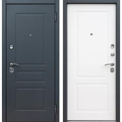 Входная дверь Снедо Лорд 2К (Шагрень графит / Белый матовый)