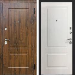 Входная металлическая дверь Снедо V02 2K (Тёмный дуб / Альберо браш браун)