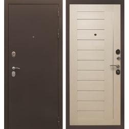 Входная металлическая дверь Снедо Бордо 3К (Муар бордо / Эш вайт)