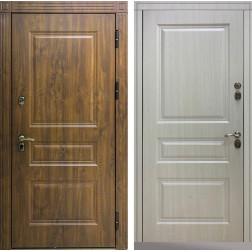 Входная дверь Снедо Сибирь Термо Премиум 3К (Тёмный дуб / Белая лиственница)