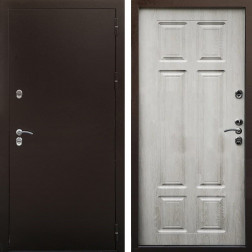 Входная дверь Снедо Сибирь Термо 3К (Медный антик / Дуб филадельфия крем)
