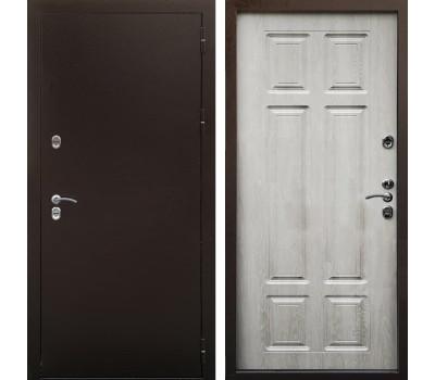 Входная уличная дверь Снедо Сибирь Термо 3К (Медный антик / Дуб филадельфия крем)