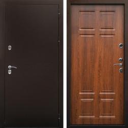 Входная дверь Снедо Сибирь Термо 3К (Медный антик / Дуб филадельфия коньяк)