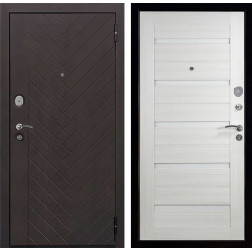 Входная дверь Вектор Лофт Х7 (Горький шоколад / Лиственница кремовая)