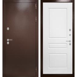 Уличная входная дверь Лабиринт Термо Магнит 3 (Антик медный / Белый софт)