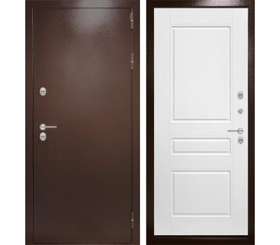 Уличная металлическая дверь Лабиринт Термо Магнит 3 (Антик медный / Белый софт)