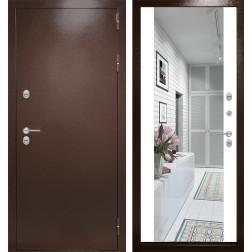 Уличная дверь Лабиринт Термо Магнит с Зеркалом Максимум (Белый софт)