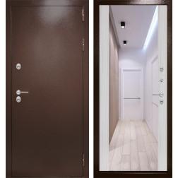 Уличная дверь Лабиринт Термо Магнит с Зеркалом Максимум (Сандал белый)