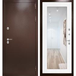 Уличная дверь Лабиринт Термо Магнит с Зеркалом 18 (Антик медный / Белое дерево)