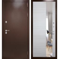 Уличная дверь Лабиринт Термо Магнит с Зеркалом (Антик медный / Акация светлая)