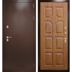 Уличная входная дверь Лабиринт Термо Магнит 17 (Антик медный / Дуб золотой)