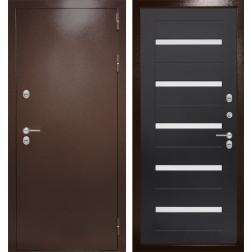 Уличная входная дверь Лабиринт Термо Магнит 1 (Антик медный / Венге)