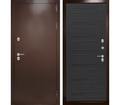 Уличная металлическая дверь Лабиринт Термо Магнит 14 (Антик медный / Эковенге)