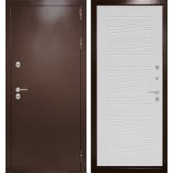 Уличная входная дверь Лабиринт Термо Магнит 6 (Антик медный / Белое дерево)