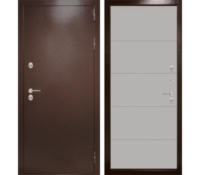 Уличная металлическая дверь Лабиринт Термо Магнит 13 (Антик медный / Грей софт)