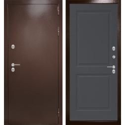 Уличная входная дверь Лабиринт Термо Магнит 11 (Антик медный / Графит софт)