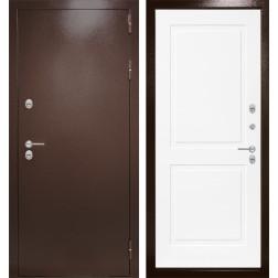 Уличная входная дверь Лабиринт Термо Магнит 11 (Антик медный / Белый софт)