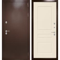 Уличная входная дверь Лабиринт Термо Магнит 3 (Антик медный / Крем софт)