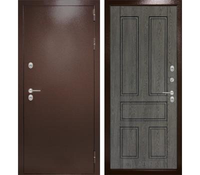 Уличная металлическая дверь Лабиринт Термо Магнит 10 (Антик медный / Дуб филадельфия графит)