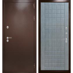 Уличная входная дверь Лабиринт Термо Магнит 9 (Антик медный / Лен сильвер грей)