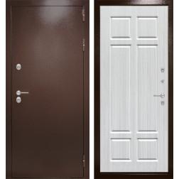 Уличная входная дверь Лабиринт Термо Магнит 8 (Антик медный / Кристалл вуд)