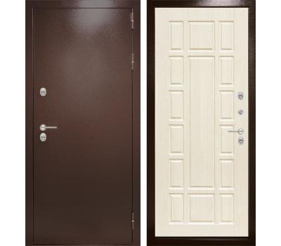 Уличная металлическая дверь Лабиринт Термо Магнит 12 (Антик медный / Белёный дуб)
